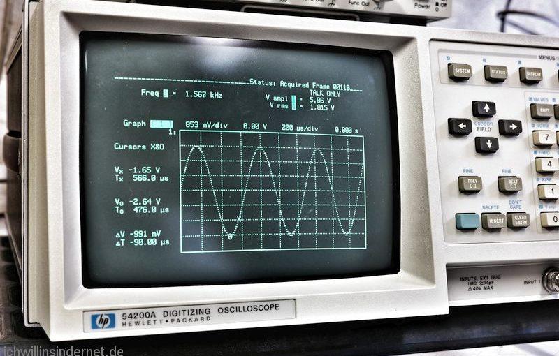Hewlett Packard 54200A Oszilloskop reinigen