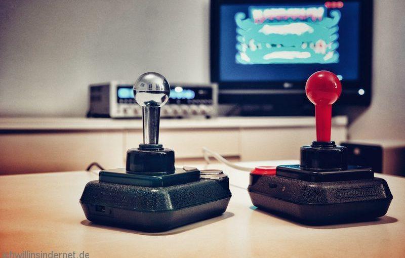 Retropie mit Amiga-Emulator und Competition Pro Joystick