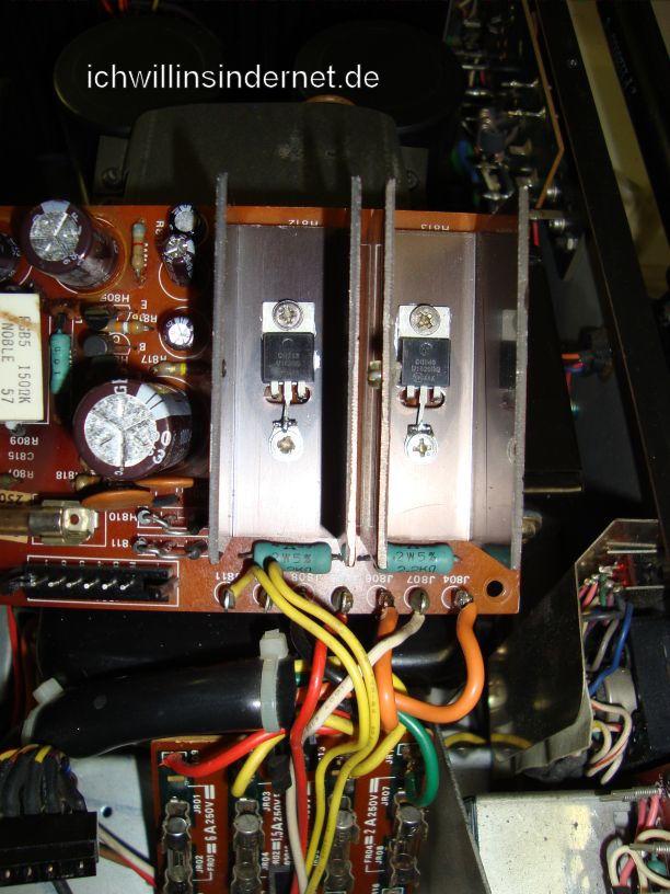 Netzteil reparieren beim Marantz 4300 Quadro Receiver