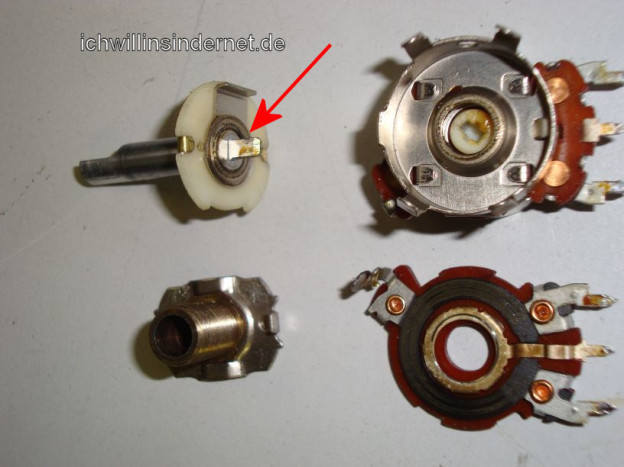 Lautstärkepoti reparieren beim HH Scott R75S Receivers
