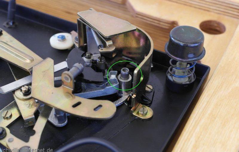 Tonarmhöhenverstellung Dual 704 reparieren